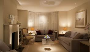 lighting for rooms. Creamy Living Room With Shady Lighting From A Pair Of Yellow Chrome Table Lamp For Rooms
