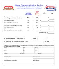 Plumbing Service Contract Template - Kleo.beachfix.co