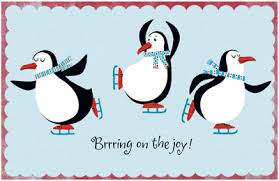 Holiday Penguins Greeting Card - Christmas Printable Card ...