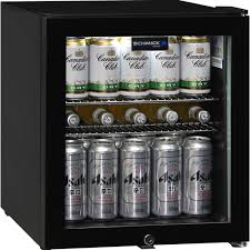 glass door black bar fridge can fit plenty of