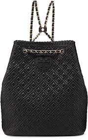 Tory Burch Marion Quilted Leather Backpack Black   Where to buy ... & ... Tory Burch Marion Quilted Leather Backpack Black ... Adamdwight.com