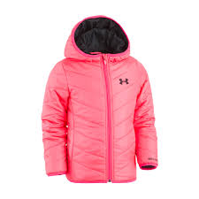 under armour jackets for girls. baby girl under armour pink midweight premier puffer jacket jackets for girls