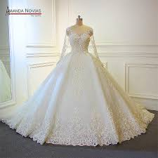 Gown Design Latest 2019 Us 1080 0 New Design Wedding Dress 2019 Full Beading Luxury Lace Bridal Dress In Wedding Dresses From Weddings Events On Aliexpress