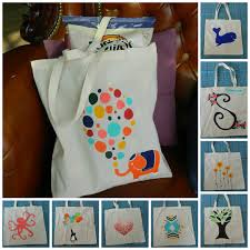 hand painted canvas tote bags 8 00