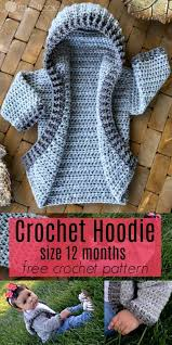 Free Baby Crochet Patterns Inspiration 48 Month Infant Hoodie Free Crochet Pattern