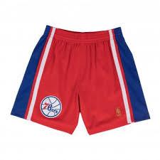 Nba Swingman Shorts Size Chart Philadelphia 76ers Nba Hardwood Classics Throwback Red Swingman Shorts