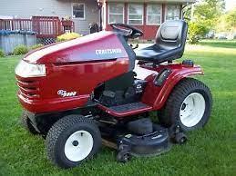 craftsman gt 5000 garden tractor mower