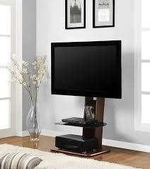 Tv Stands For 50 Flat Screens Minimalist Brown Walnut Wood Flat Screen Tv Stand With Black
