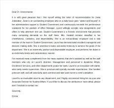 Samples Of Letters Recommendation Social Work Letter Sample Employer