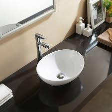 Compact Small White Mini Oval Counter Top Vanity Ceramic Bowl Basin Sink  400mm Sink Bowls On Top Of Vanity N73