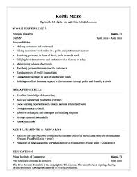 Restaurant Resume Template Cool Fast Food Sample Resume Kappalab