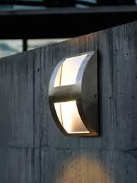 modern wall lights modern flush ing outdoor wall light stainless steel eg 88029
