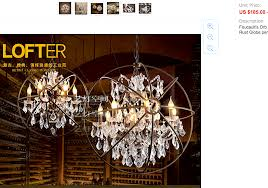 chinese crystal orb chandelier