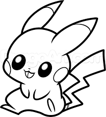Coloring Pages Of Baby Pikachull