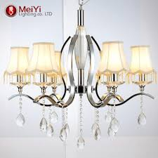 european style white fabric shade led modern k9 crystal chandeliers for living room res de cristal chandelier modern chandelier lighting contemporary