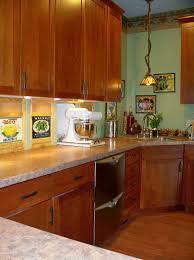 Furniture Durham Cherry Cinnamon Kitchen Cabinets By Kraftmaid