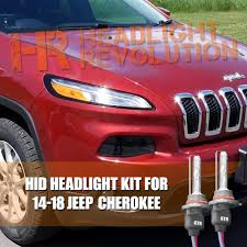 14 17 jeep cherokee hid headlights conversion kit jeep cherokee hid headlight upgrade