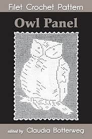 Crochet Pattern Chart Owl Panel Filet Crochet Pattern Complete Instructions And