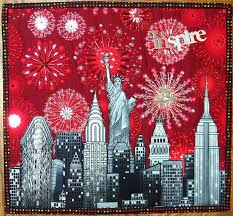 160 best Quilt: CityScapes images on Pinterest | Painting, Stars ... & precioso quilt, wonderful quilt ...grand Fourth of July celebration in NYC. Adamdwight.com