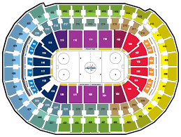 Punctual Penguins Seating Chart With Rows Verizon Center