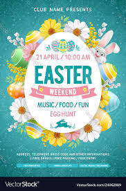 Easter Weekend Party Flyer Template