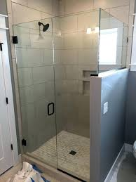 half wall shower glass installing with medium size of spaces traditional block kit half wall shower glass