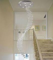 50 200cm spiral rain drop chandelier modern crystal chandeliers lighting staircase lights home stairs hanging suspension lamps