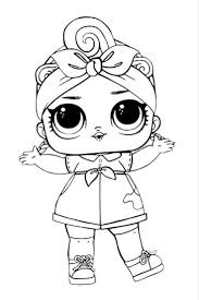 Lol Dolls Coloring Pages Black And White Free