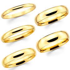 14k Solid Gold Wedding Band Ebay