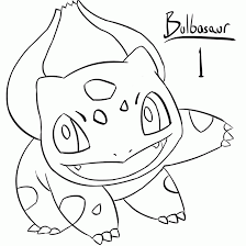 Small Picture Pokemon Bulbasaur Coloring Page Coloring Home