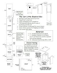 bluebird house plans. Carl Little Bluebird Box House Plans N