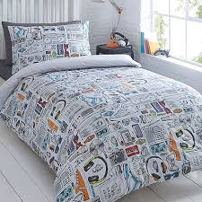bluezoo Kids' white 'Gadget' duvet cover and pillow case set ... & bluezoo Kids' white 'Gadget' duvet cover and pillow case set | Debenhams Adamdwight.com