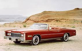 Wallpapers Cadillac Fleetwood Eldorado Convertible 1976 Red antique