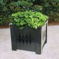 office planter. square steel metal planter with liner s8060 5 styles office o