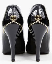 chanel heels. chanel cc patent leather pumps high heels black 39 5 | ebay a