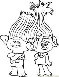 Branch From Trolls Coloring Page Kids Coloring