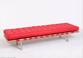 standard red leather barcelona bench 3 seater mies van der rohe replica by modernclassics com mc 1008