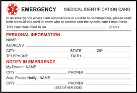 Alert Your Print Identification In Keep - Medical Download Card Free And Wallet