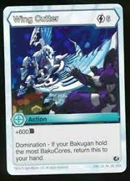 In bakugan dimensions, gate cards are special moves that set special conditions over the field. Bakugan Battle Planet Brawlers Wing Cutter Rare Card Hex Holo Foil Ebay