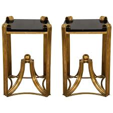 art moderne furniture. Art Deco Moderne Pair Of Rare Bronze Side Tables Furniture C