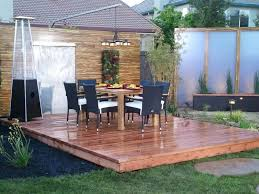furniture elegant floating outdoor furniture with wooden floor and elegant blue seat and round dining table