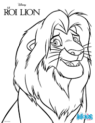 Kids Coloring Pages The Lion King Simba Coloring Pages Hellokids Com