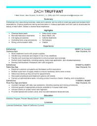 Best Esthetician Resume Example Livecareer