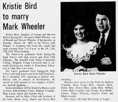 Kristie Bird to Marry Mark Wheeler - Newspapers.com