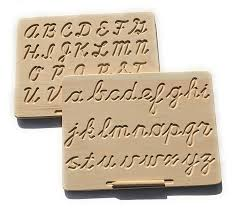 But i will try to communicate you that how. Amazon Com Montessori Cursive No Color Double Sided Lowercase Uppercase Alphabet Tracing Board With Wooden Pen Handmade