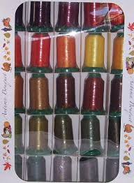 Exquisite Thread Color Chart Poly X 40 Embroidery Machine Thread 25 Spool Autumn Amazon