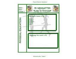 Education Newsletter Templates Pe Newsletter Template Newsletter Templates Physical