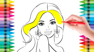 Coloring Pages Barbie Doll Colouring Pictures For Kids With Colored