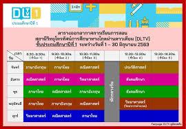 ตารางออกอากาศการเรียนการสอน DLTV... - ครูอาชีพ - เว็บไซต์เพื่อการศึกษา