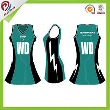 Hot Item Green Black Ladies 100 Polyester Sublimation Netball Dress
